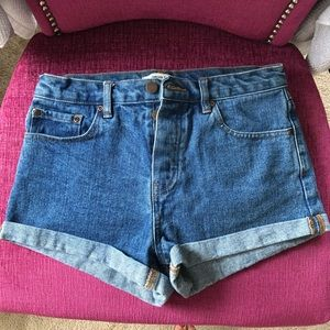 Forever 21 mid-rise jean shorts